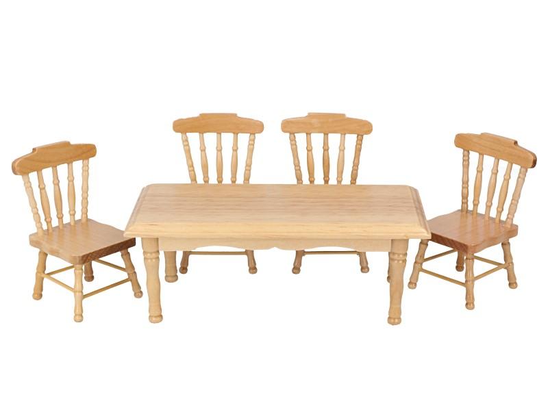 Mb0263 - Mesa con cuatro sillas