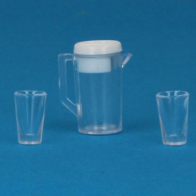 Tc0982 - Juego de jarra y vasos