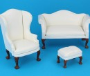 Cj0007 - White Couch Set