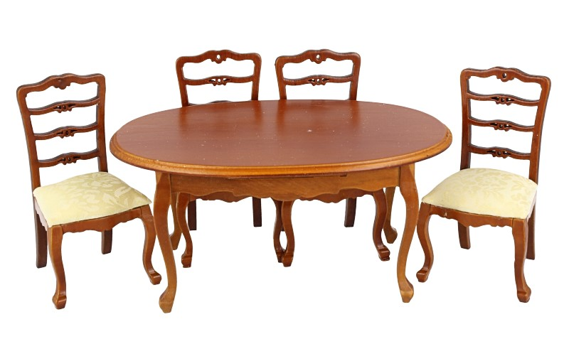 Cj0008 - Mesa y cuatro sillas