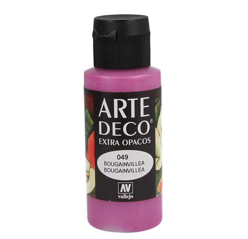 Pt0049 - Peinture acrylique bougainvillée