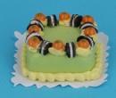 Tarta cuadrada de kiwi