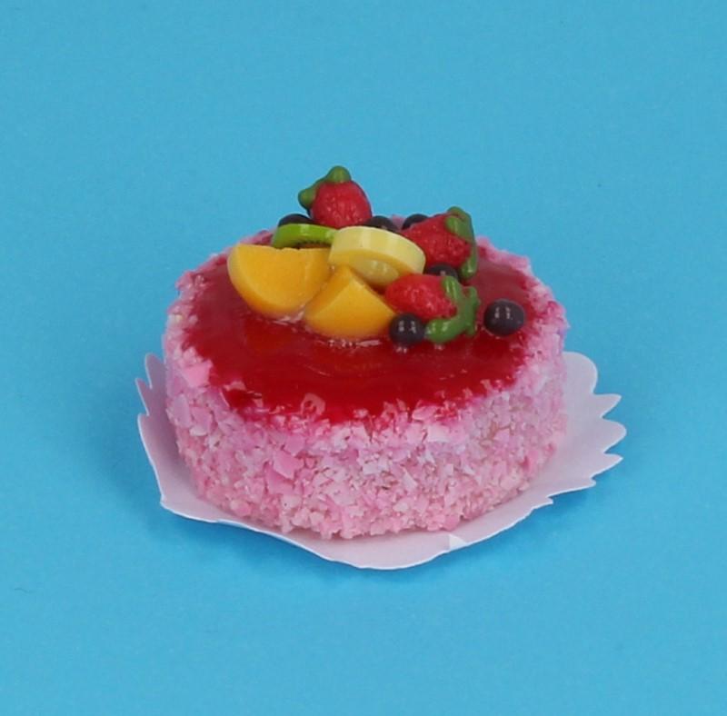 Sm0076 - Strawberry Cake and Fruit Salad