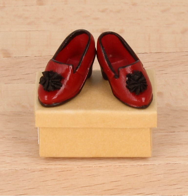 Tc1820 - Zapatos rojo de señora