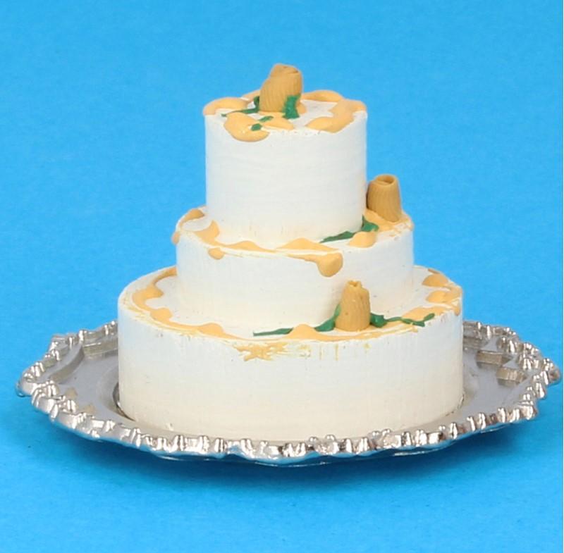 Tc2491 - Gâteau sur plateau