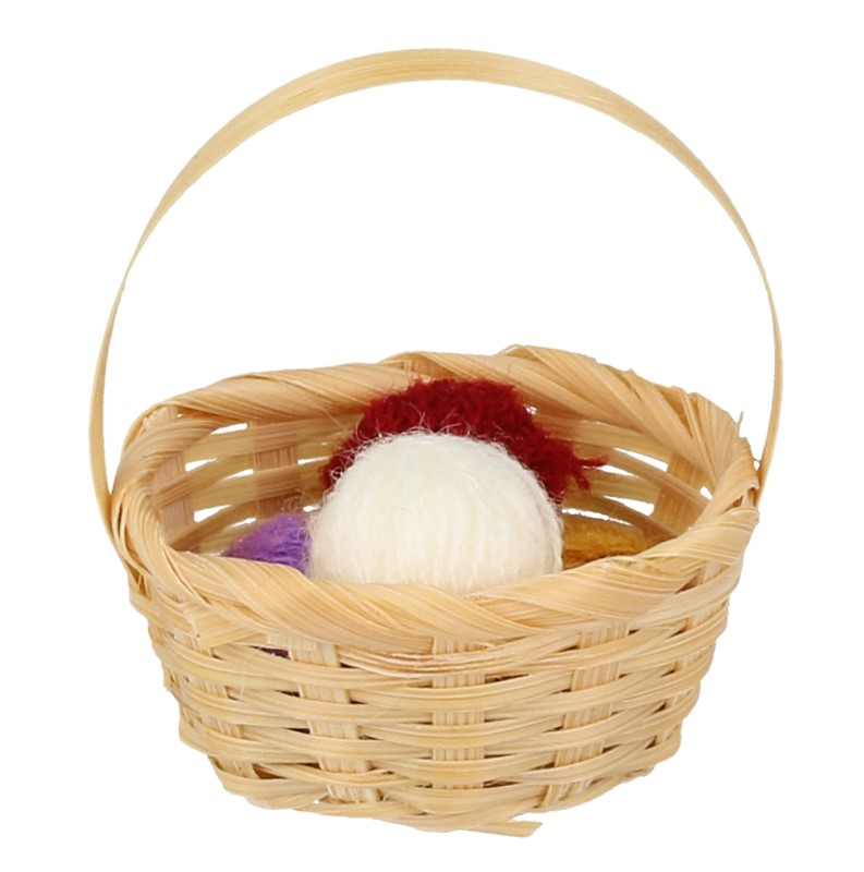 Tc2524 - Basket with balls of wool