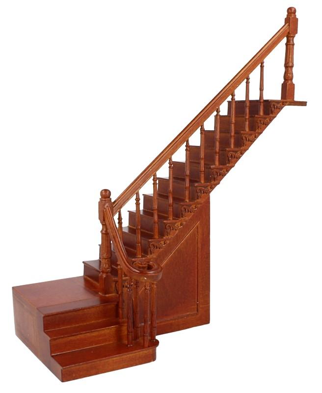 Cp0036 - Escalier de luxe avec deux sections
