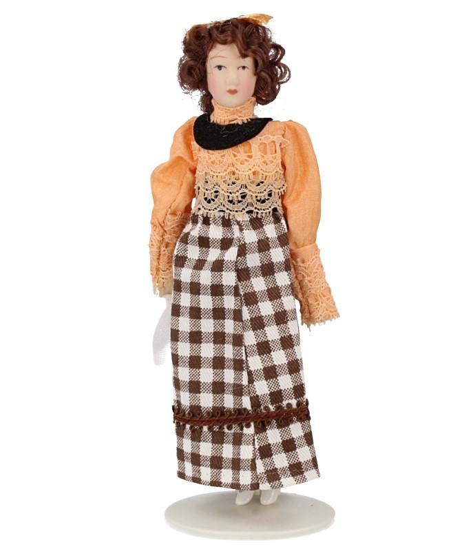 Hb0086 - Femme en jupe à carreaux