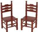 Mb0229 - Two mahogany chairs