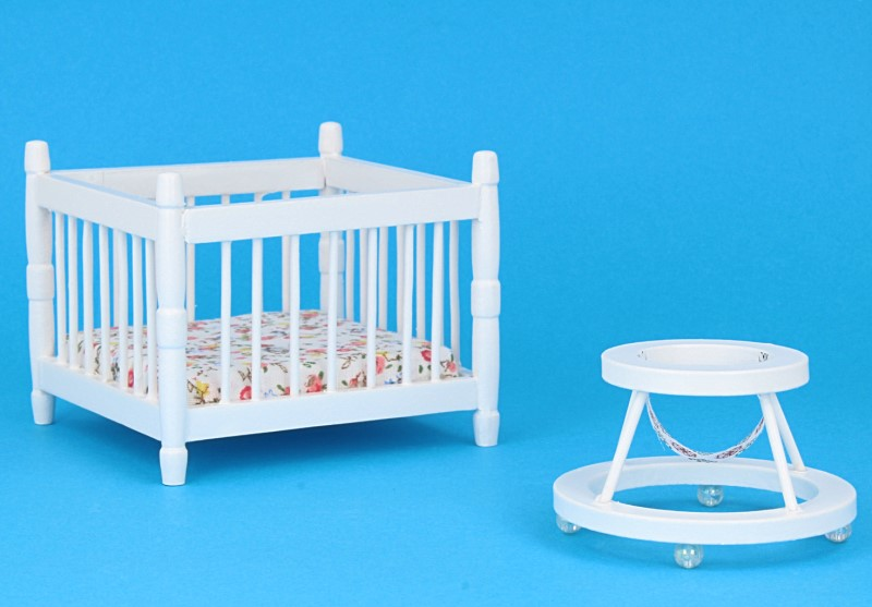 Mb0357 - Travel Cot and baby walker
