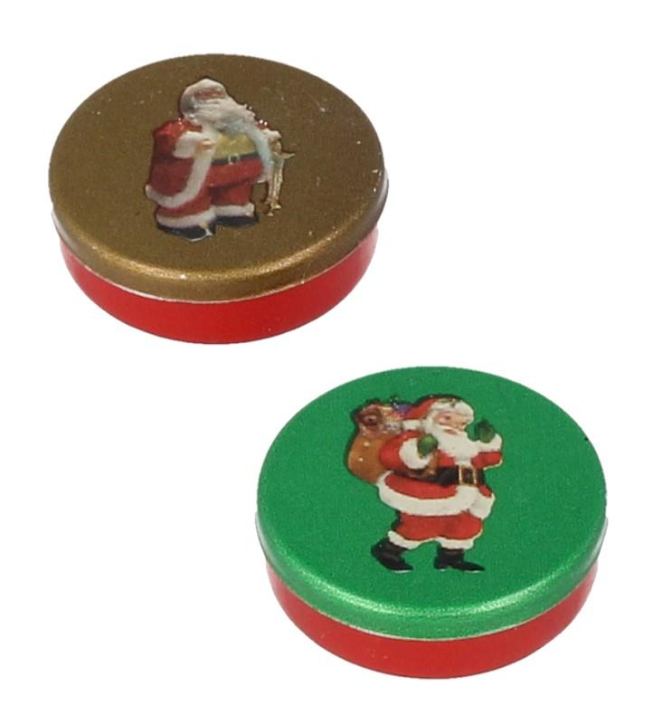 Nv0029 - Deux boîtes metalique de Noël