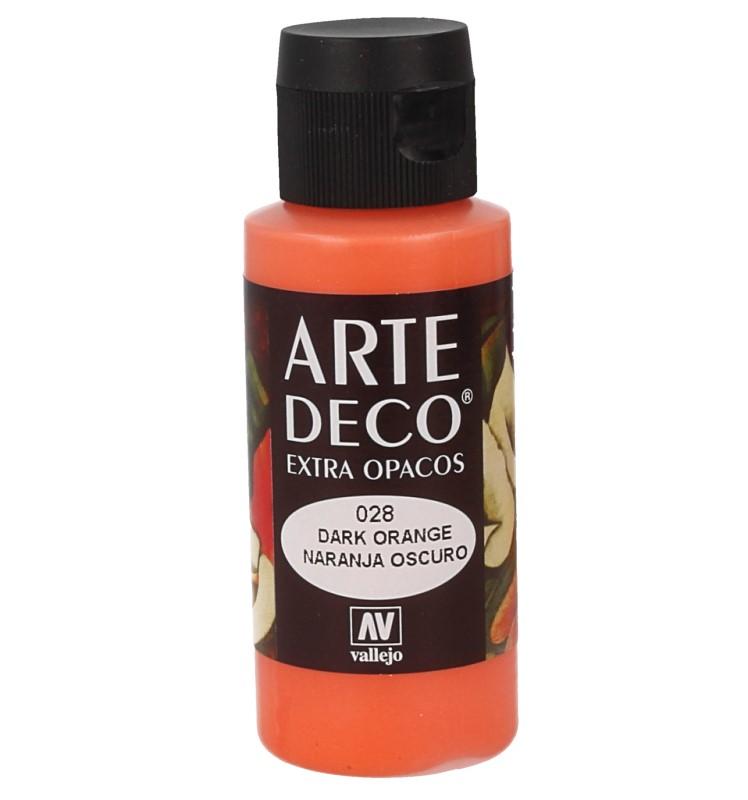 Pt0028 - Peinture acrylique orange foncé