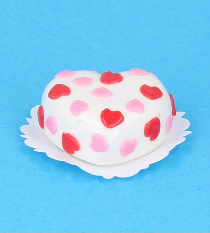 Sm0106 - Gâteau coeur au chocolat blanc