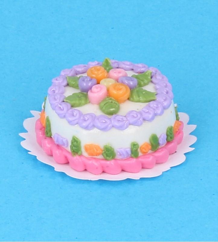Sm0117 - Tarta de nata con flores