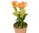 Sm4729 - Pot de fleurs avec des fleurs orange
