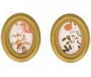 Due quadri ovali piccoli