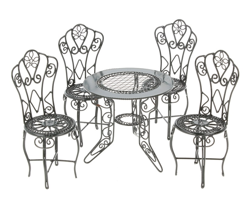 Cj0025 - Metal set of garden furniture