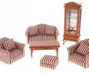Cj0009 - Set divani a righe rosse