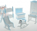 Cj0071 - Chambre d enfants bleu clair