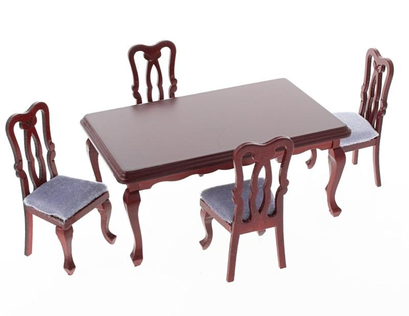 Mb0358 - Table et quatre chaises