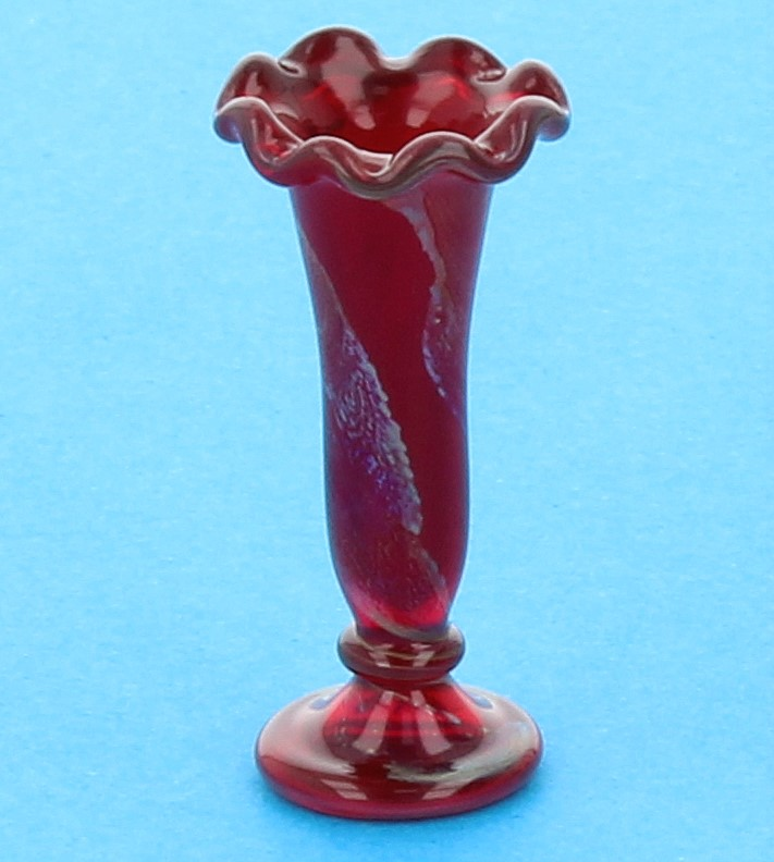 Tc0345 - Vase à décor rouge