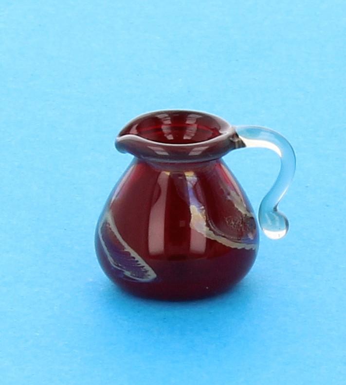 Tc1497 - Jarra decoración roja