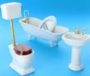 Tc5060 - Toilette 4 pièces blanc