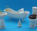 Mb0623 - Toilette blanche 5 pièces