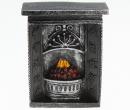 Mb0749 - Black fireplace