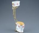 Re17443 - Toilette hoher Spülkasten Rosen