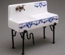 Re18401 - Sink blue flowers