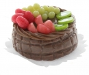 Sm0092 - Chocolate cake with fruit salad on top