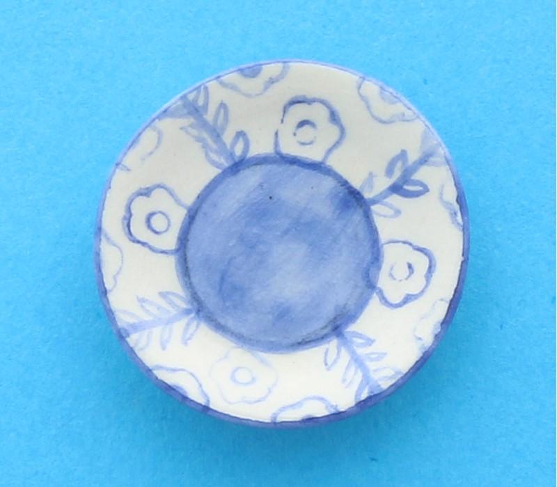 Tc1302 - Assiette décorée en bleu