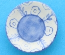 Tc1302 - Decorated blue plate