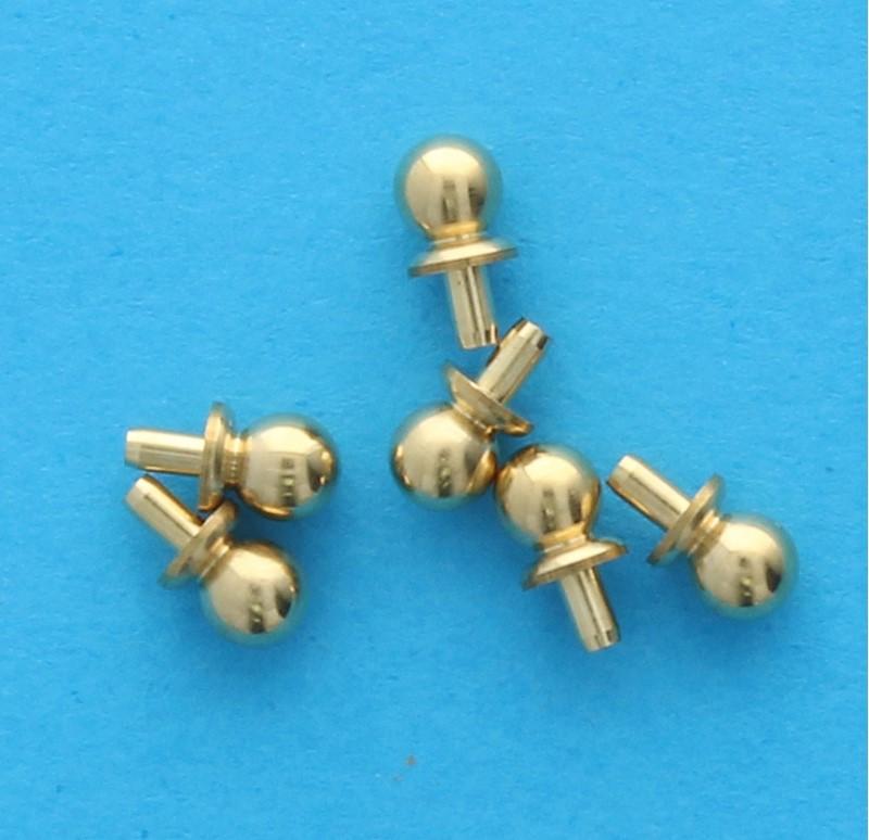 Tc1595 - 6 Pomos dorados