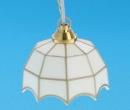 Lp4005 - Lampada tiffany a led da soffitto bianca