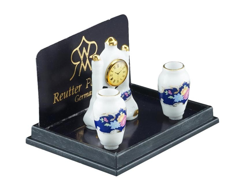 Re18075 - Horloge et vases