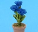 Sm4751 - Maceta con flores azules