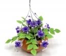 Tc0551 - Pot de fleurs à suspendre fleurs lilas