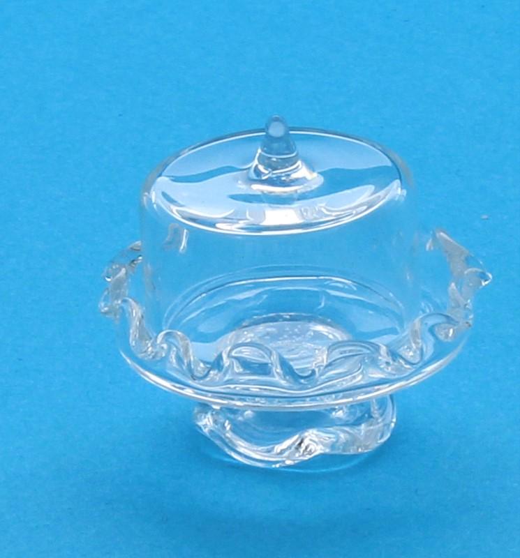 Tc1776 - Piatto da torta in vetro