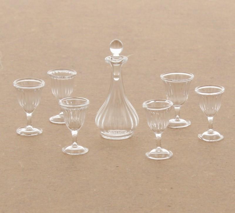 Tc1792 - Juego de licorera y copas