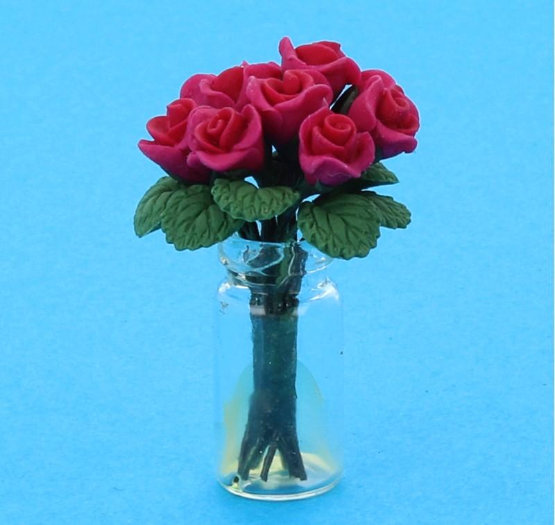 Tc2586 - Vase avec des roses