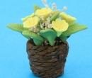 Tc2588 - Maceta de esparto con flores