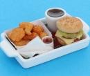 Sm3607 - Bandeja con hamburguesa