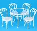 Mb0780 - Tavolo bianco e 4 sedie