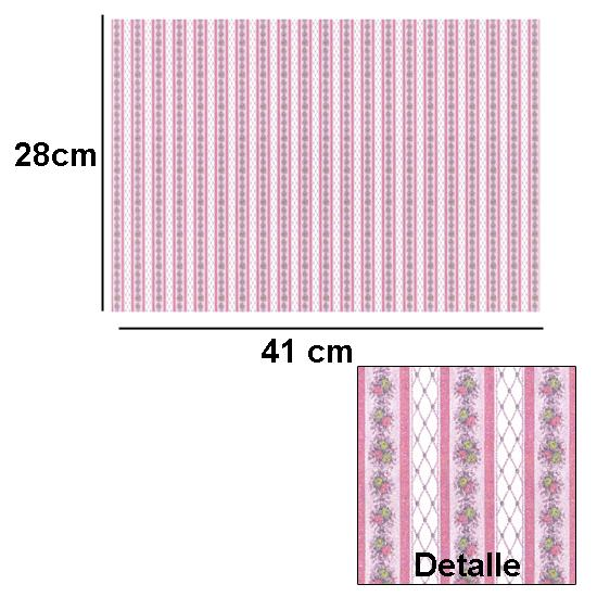 Br1004 - Papel decorado rosa
