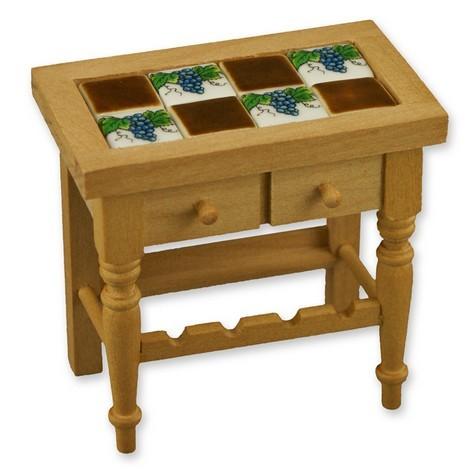 Case delle bambole re17640 tavolo con piastrelle - Tavolo con piastrelle ...