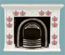 Re17871 - Fireplace with Pink Tiles