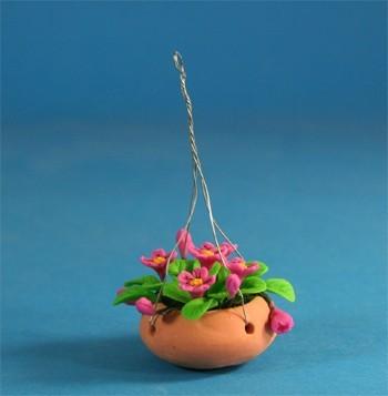 Tc0530 - Maceta colgante flores