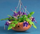 Tc0551 - Hanging pot with purple flowers
